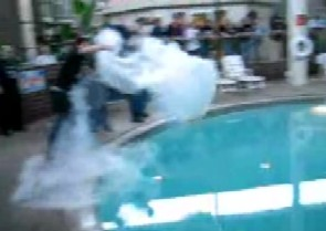 Liquid Nitrogen Into A Swimming Pool
