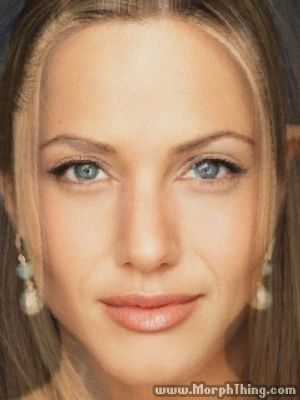 This is a morph of Jennifer Aniston and Angelina Jolie.