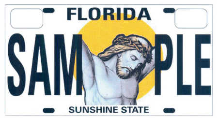 Religious License Plate