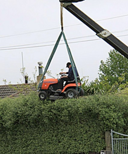 hedge-mowing
