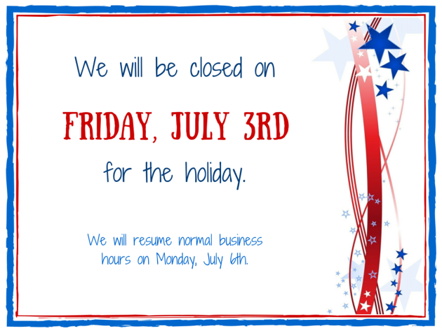 Closed-July-3rd